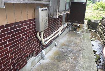 ガス給湯器に交換しました