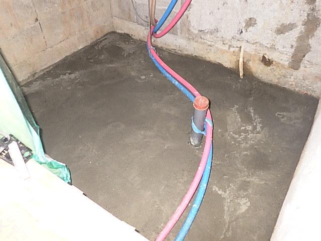 浴室土間コンクリート工事をさせて頂きました/浴室リフォーム5日目<氷見市南部>