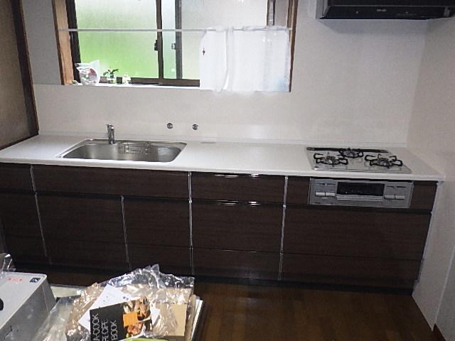 氷見市のキッチンリフォーム 「使い勝手のいいシステムキッチンへ」