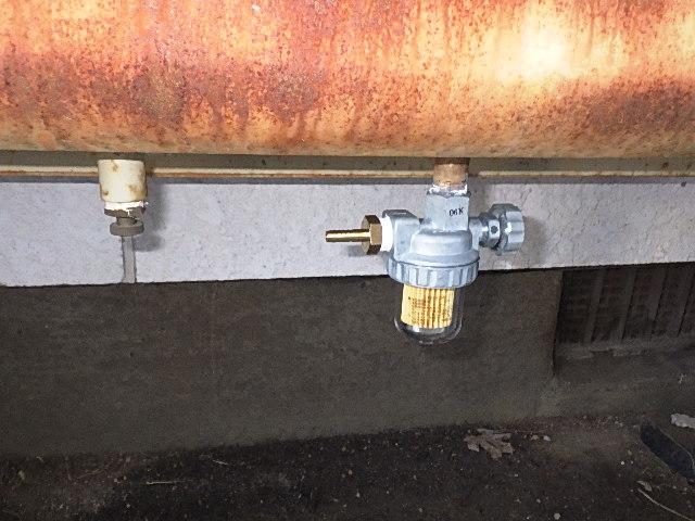 氷見市の修理・お直し 「灯油タンクのストレーナー取替」