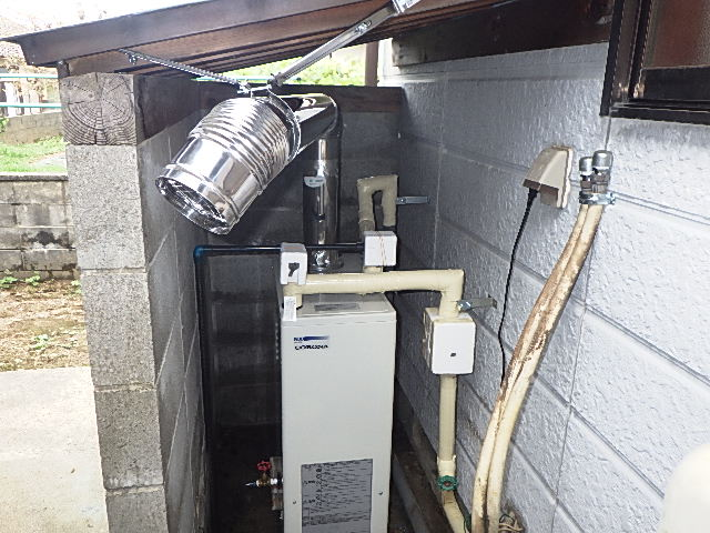 氷見市の給湯器交換工事