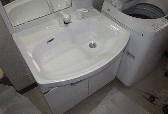 氷見市の洗面化粧台取替 「ひろびろ☆ホーローボウル」
