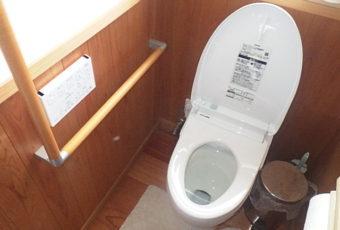 氷見市のトイレ修理 「一体型機能部・バルブユニットの交換」