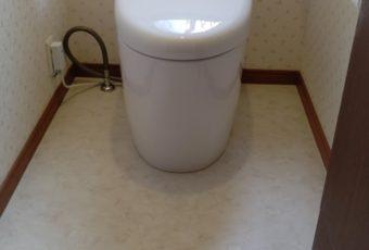 氷見市のトイレ交換・クッションフロア貼替