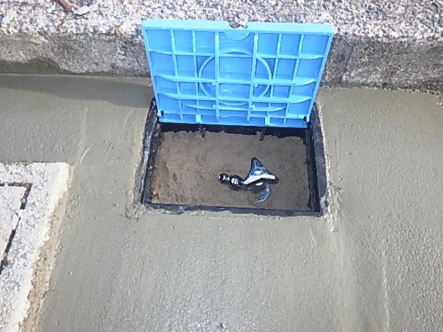 散水栓へ交換工事 <p>☆住まいの設備交換☆<p>