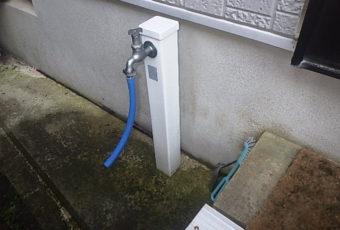 屋外水栓の現場調査へ