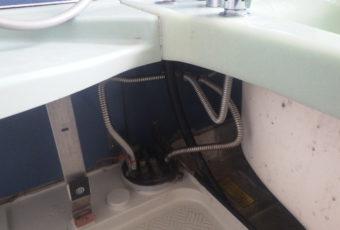 浴室内漏水の現場調査へ
